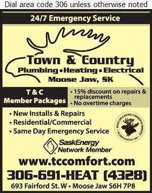 Town & Country Plumbing & Heating - Air Conditioning Contractors Digital Ad