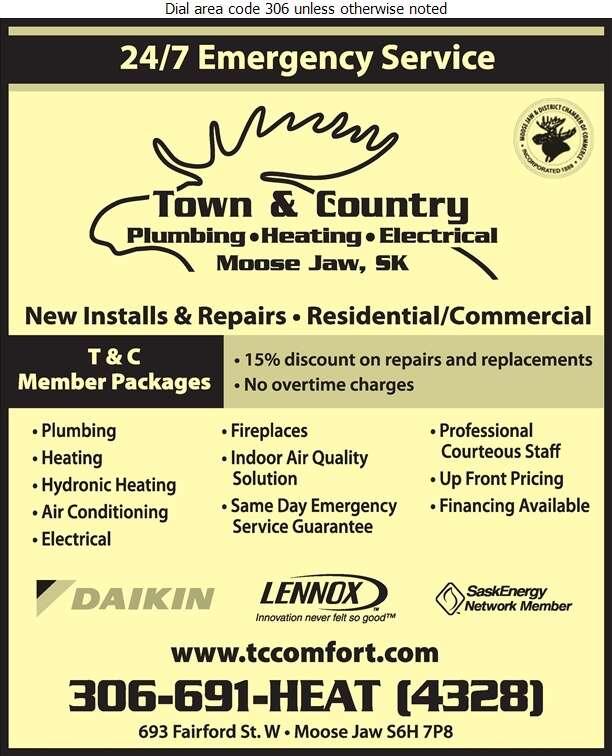 Town & Country Plumbing & Heating - Plumbing Contractors Digital Ad