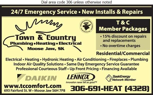 Town & Country Plumbing & Heating - Electric Contractors Digital Ad