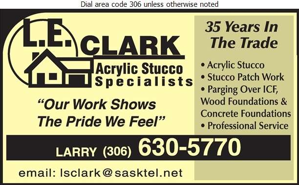 LE Clark Acrylic Stucco Specialist - Stucco Contractors Digital Ad