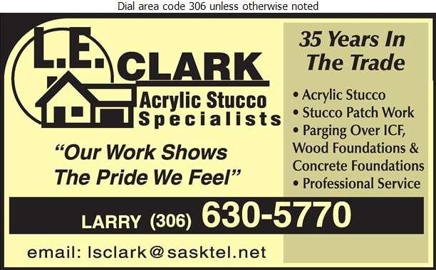 LE Clark Acrylic Stucco Specialist - Stucco Contractors Digital Ad