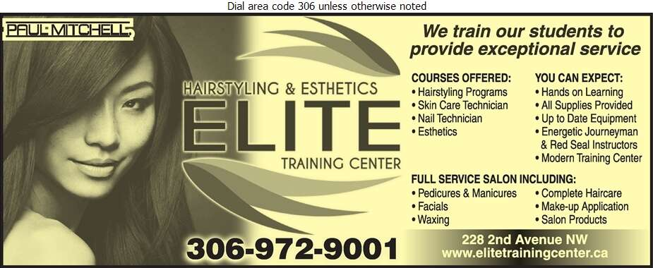 Elite Hairstyling & Esthetics Training Center - Beauty Salons Digital Ad
