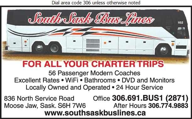 South Sask Bus Lines - Bus Lines Digital Ad
