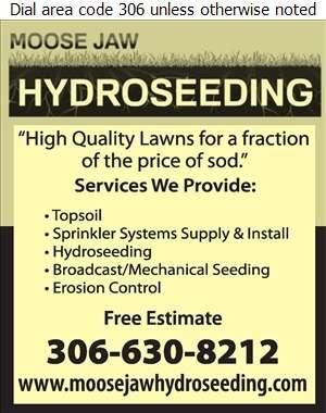 Moose Jaw Hydroseeding - Landscape Contractors & Designers Digital Ad