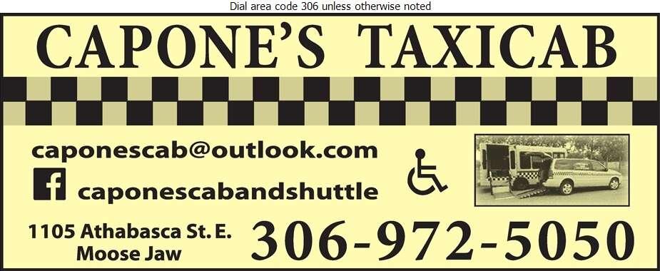 Capones Handi-Cab - Taxicabs Digital Ad