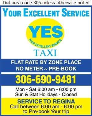 Yes Taxi & Shuttle Service - Taxicabs Digital Ad