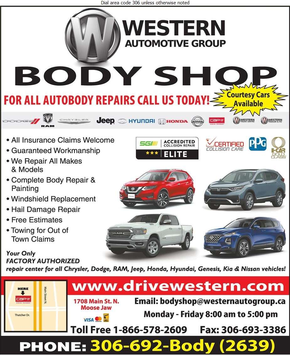 Western Automotive Group Body Shop - Auto Body Repairing Digital Ad