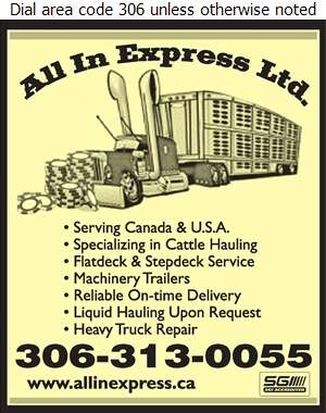 All In Express Ltd - Trucking Digital Ad