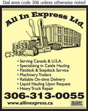 All In Express Ltd - Trucking Digital Ad