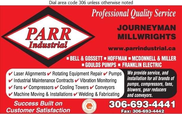 Parr Industrial Ltd - Millwrights Digital Ad