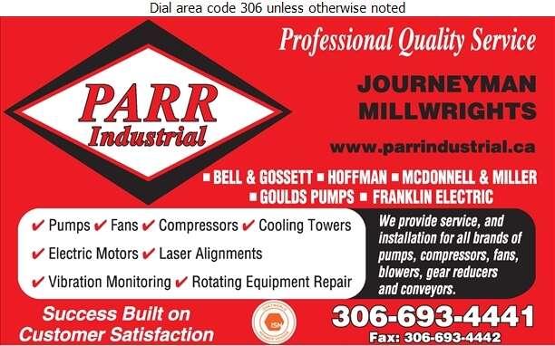 Parr Industrial Ltd - Pumps Digital Ad