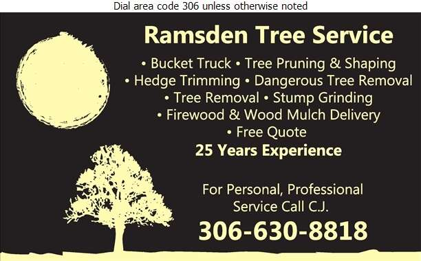 Ramsden Tree Service - Tree Service & Stump Removal Digital Ad