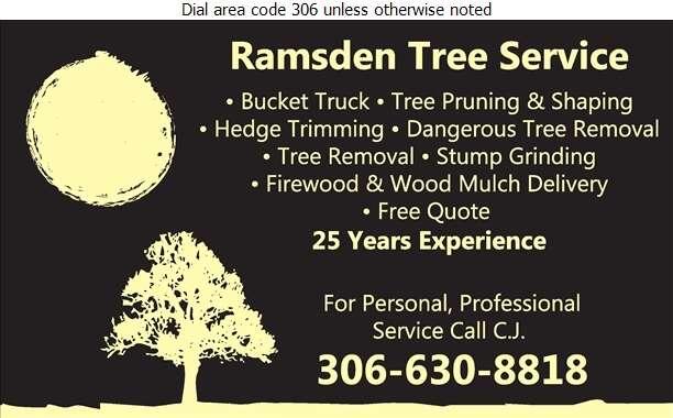 Ramsden Tree Service - Tree Service & Stump Removal Digital Ad