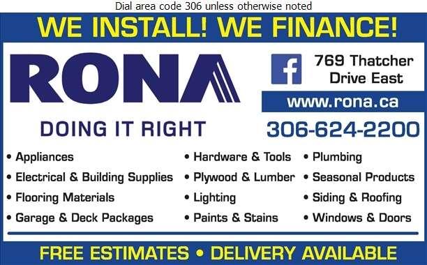 Rona Inc - Lumber Retail Digital Ad