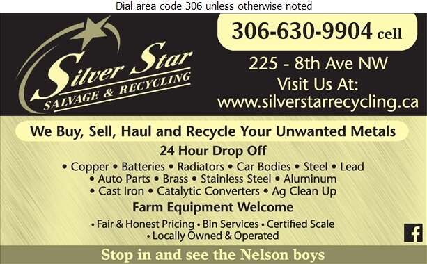 Silver Star Salvage And Recycling - Scrap Metals Digital Ad