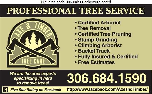 Axe & Timber - Tree Service & Stump Removal Digital Ad