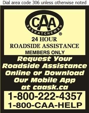 CAA Saskatchewan - Towing & Boosting Service Digital Ad