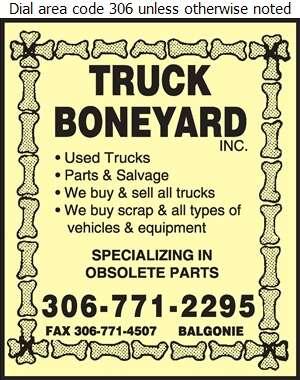 Truck Boneyard Inc - Truck Equipment & Parts Digital Ad