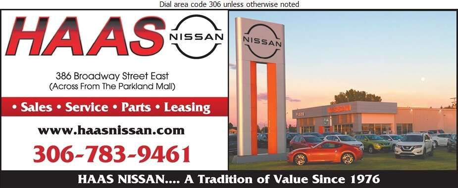 Haas Nissan Ltd - Auto Dealers New Cars Digital Ad