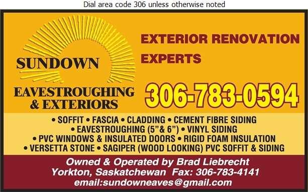 Sundown Eavestroughing & Exteriors - Eavestroughing Digital Ad