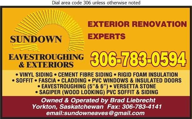 Sundown Eavestroughing & Exteriors - Siding Digital Ad