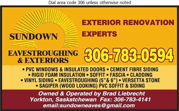 Sundown Eavestroughing & Exteriors - Windows Digital Ad