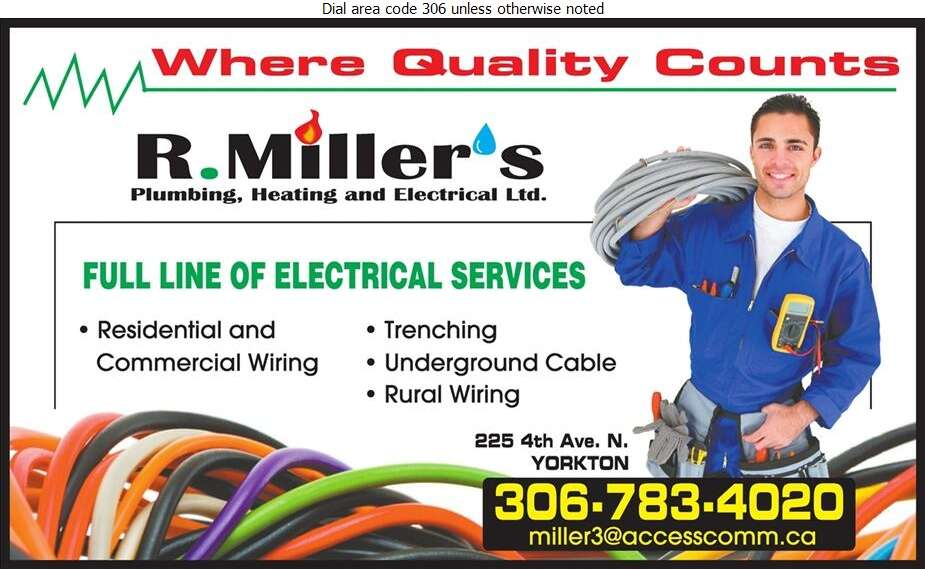 R Miller's Plumbing Heating & Electrical Ltd - Electric Contractors Digital Ad