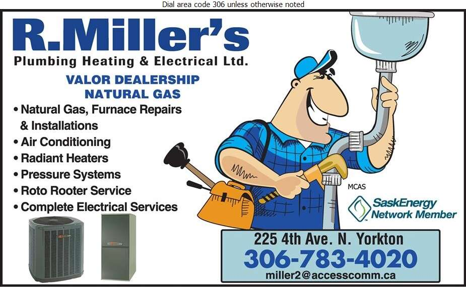 R Miller's Plumbing Heating & Electrical Ltd - Plumbing Contractors Digital Ad