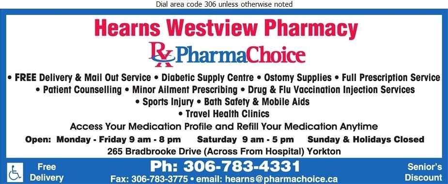 Hearn's Westview Pharmacy - Pharmacies Digital Ad