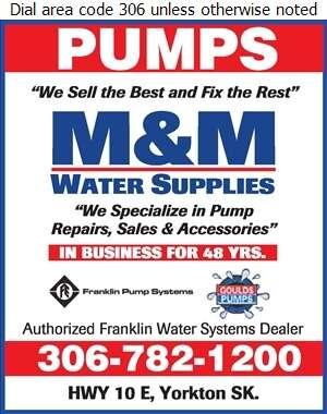 M & M Water Supplies - Pumps Digital Ad