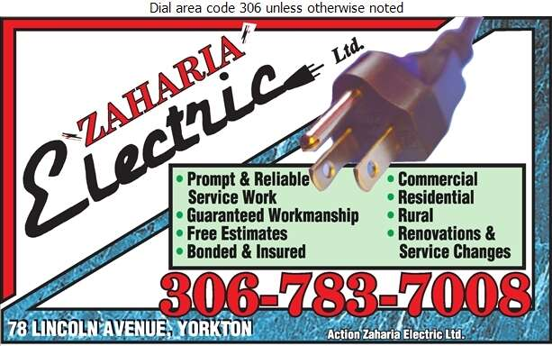 Action Zaharia Electric Ltd - Electric Contractors Digital Ad