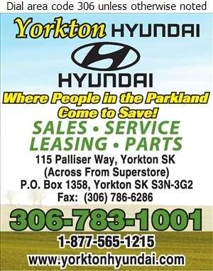Yorkton Hyundai - Auto Dealers New Cars Digital Ad