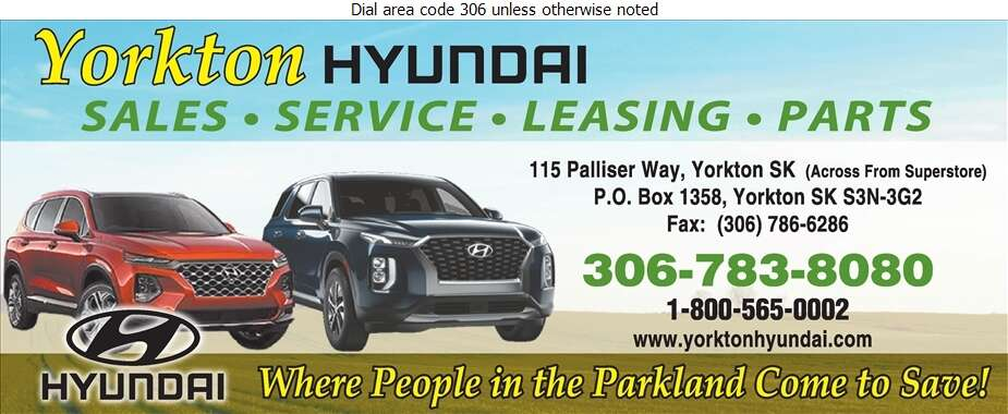 Yorkton Hyundai - Auto Dealers New Cars Digital Ad
