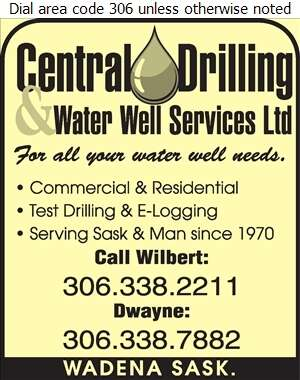 Central Drilling Ltd - Water Well Drilling & Service Digital Ad