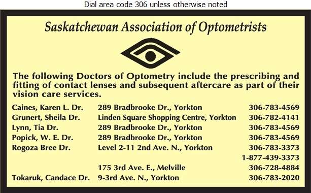 Popick Caines Drs & Associates - Optometrists Digital Ad