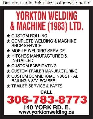 Yorkton Welding & Machine (1983) Ltd - Welding Digital Ad