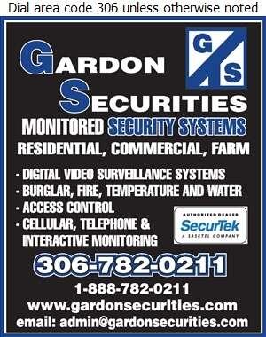 Gardon Securities - Alarm Systems Digital Ad