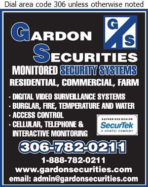 Gardon Securities - Security Systems Digital Ad