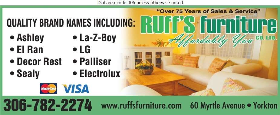 Ruff's Furniture Co Ltd - Furniture Dealers Retail Digital Ad