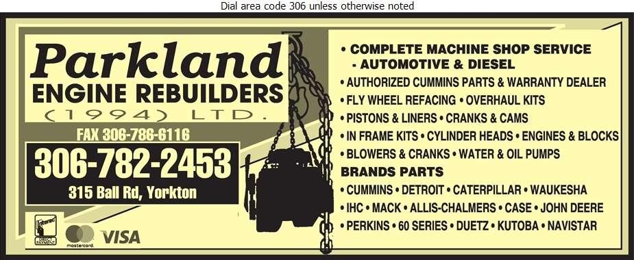 Parkland Engine Rebuilders 1994 Ltd - Engines Rebuilding & Exchanging Digital Ad