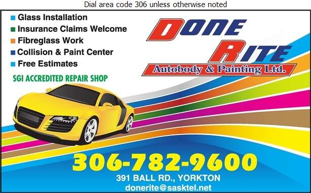 Done Rite Auto Body & Painting Ltd - Auto Body Repairing Digital Ad