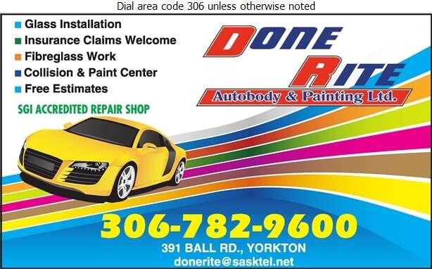 Done Rite Auto Body & Painting Ltd - Auto Body Repairing Digital Ad