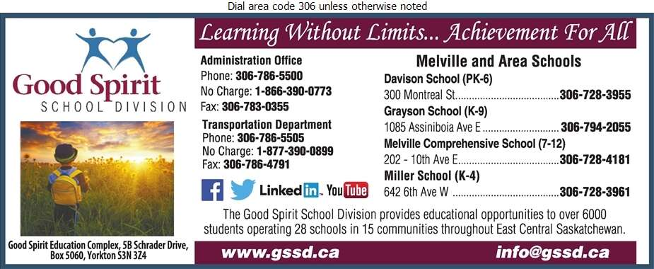 Good Spirit School Division No 204 (YRHS Infant Care Inc) - School Boards Digital Ad