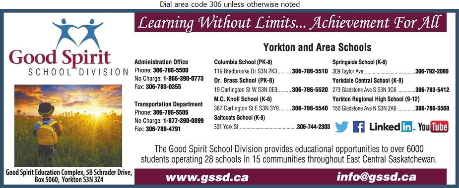 Good Spirit School Division No 204 (Yorkton Regional High School) - School Boards Digital Ad