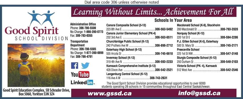 Good Spirit School Division No 204 (Dr Brass School) - School Boards Digital Ad