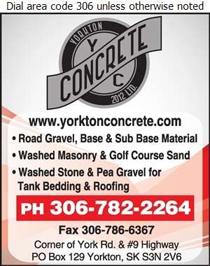 Yorkton Concrete 2012 Ltd - Sand & Gravel Digital Ad