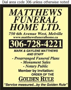 Matthews Funeral Home - Funeral Homes & Planning Digital Ad
