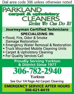 Parkland Carpet & Upholstery Cleaners Ltd - Flood Damage Restoration & Floodproofing Digital Ad
