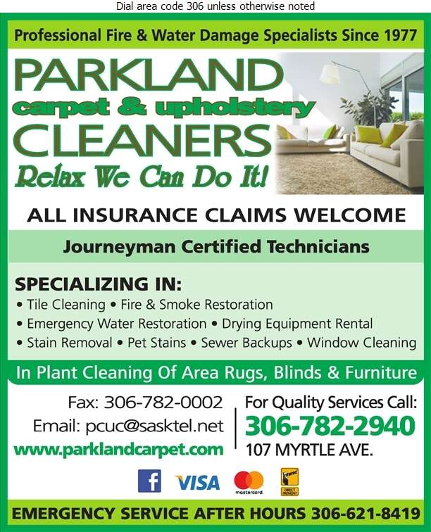 Parkland Carpet & Upholstery Cleaners Ltd - Carpet & Rug Cleaners Digital Ad