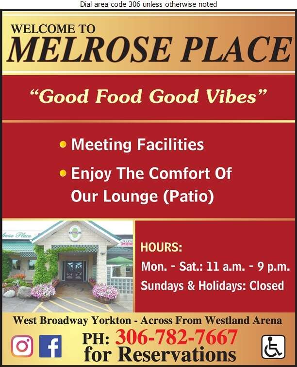 Melrose Place - Restaurants Digital Ad